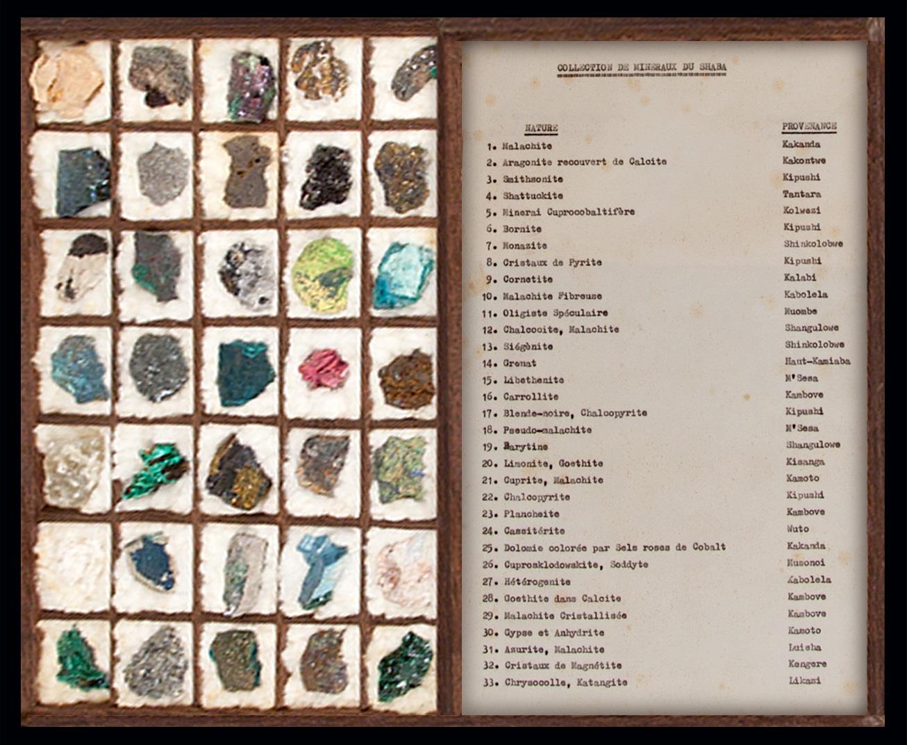 muestras minerales, katanga