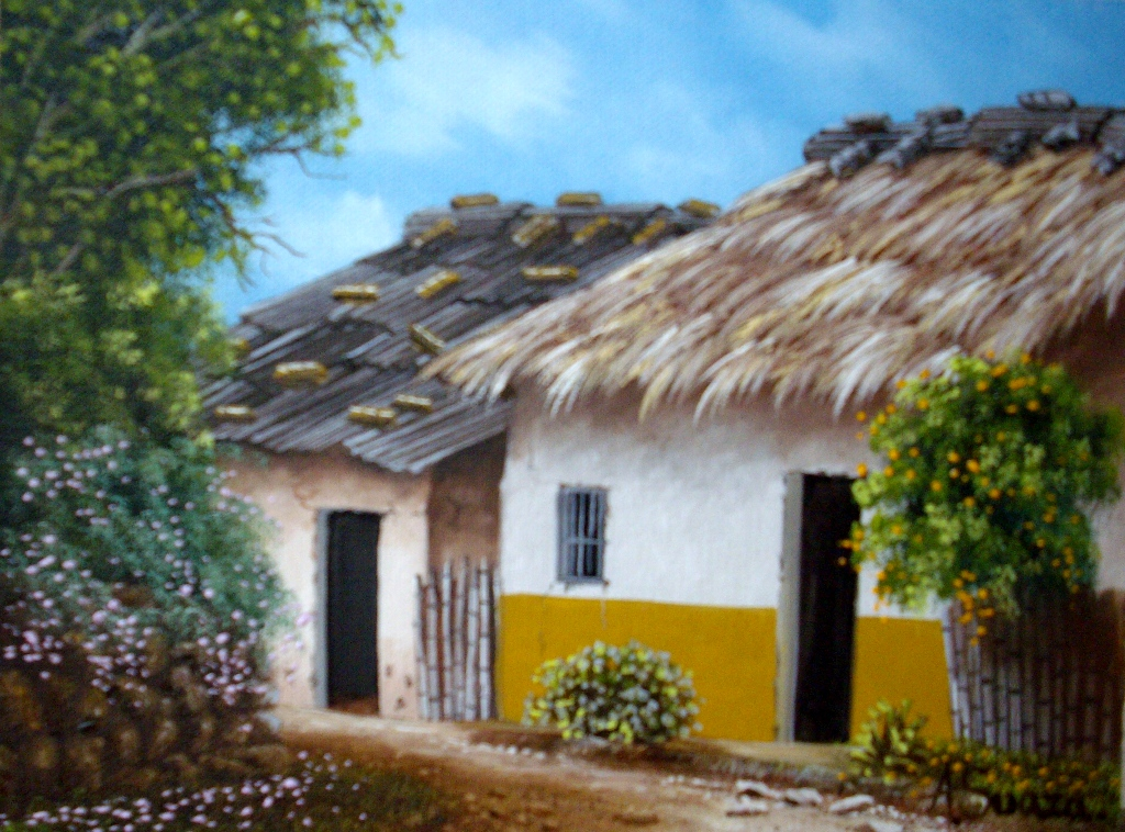 Im genes arte pinturas lindos paisajes con casas - Casas viejas al oleo ...