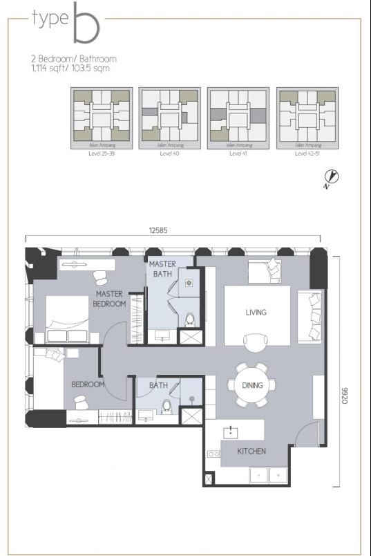 2 Bedroom Type B