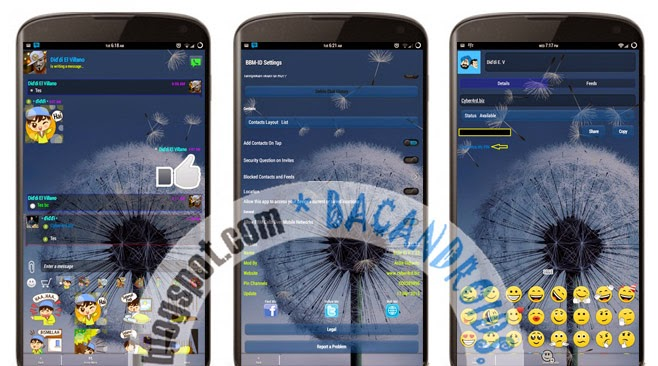 download BBM-ID Clone MOD Transparent Versi 2.7.0.23 Terbaru Change Background