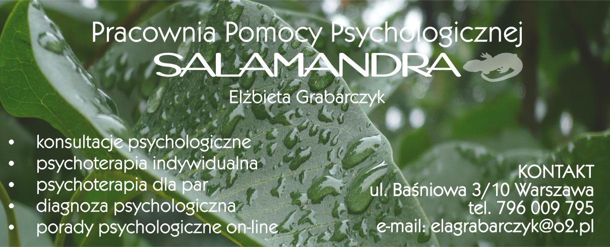 Pracownia Pomocy Psychologicznej SALAMANDRA | Elżbieta Grabarczyk  | Dobry psycholog Warszawa