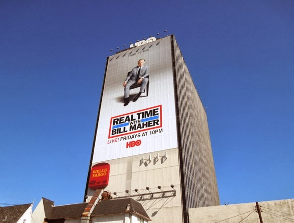 Giant Real Time Bill Maher Truth be told billboard