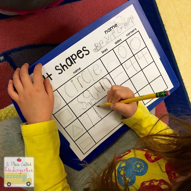 Practice identifying flat shapes and solid shapes in Kindergarten with these fun shape activities. Don't miss seeing these shape activities in action.