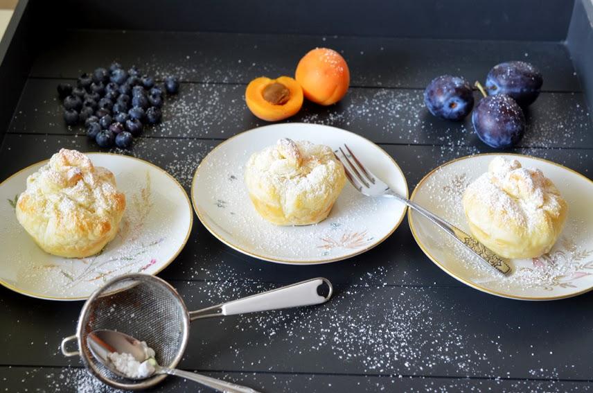 Fruchtige Blätterteig-Käsekuchen-Päckchen