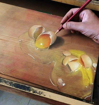 3D painting on wood