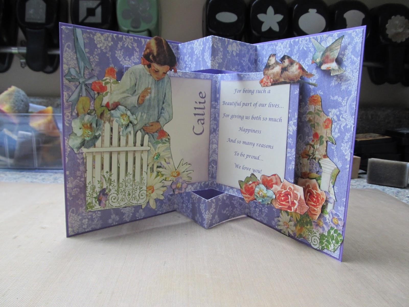 Calla Lily Studio Blog Pop Up Book Birthday Card