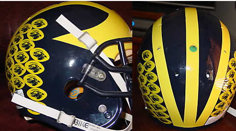 The Helmet Stickers Debate Poll Results Maize And Blue Nation
