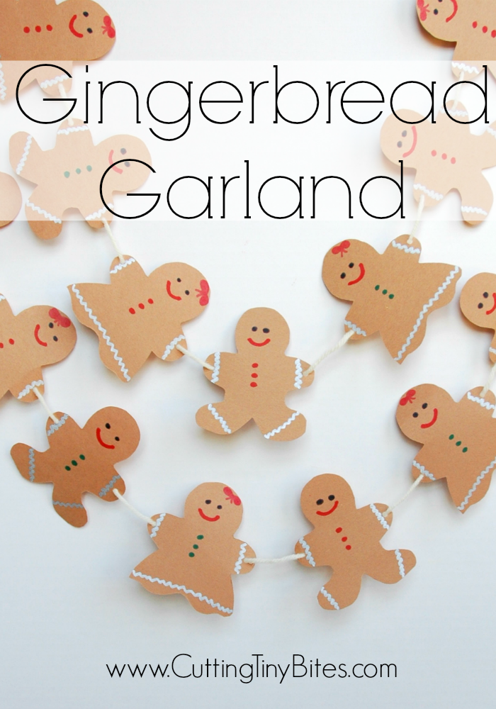 Christmas craft for kids. Sweet and simple gingerbread boys and girls for holiday decoration.