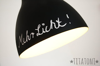 Anleitung Ikea Lampe mit Tafellack im Industriedesign DIY