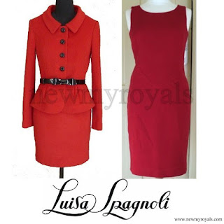Kate Middleton wore style LUISA SPAGNOLI Red Suit