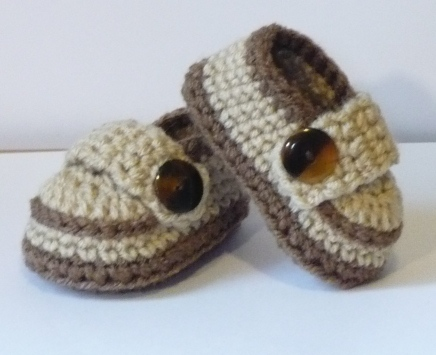 Let s create Crochet Baby Boy Shoes