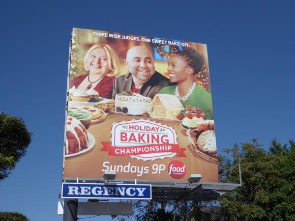 Holiday Baking Championship Food Network billboard