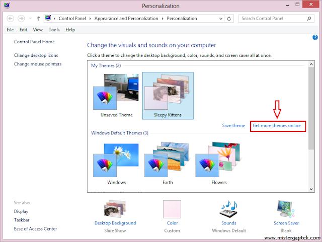 Download Tema untuk Desktop Windows 8