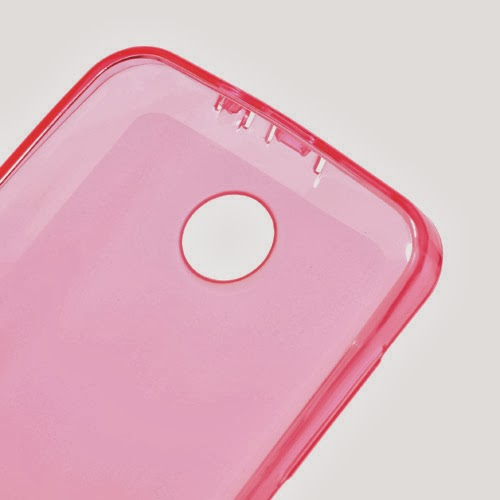 Pudding TPU Jelly Case Cover Protector for Lenovo A390 - Pink