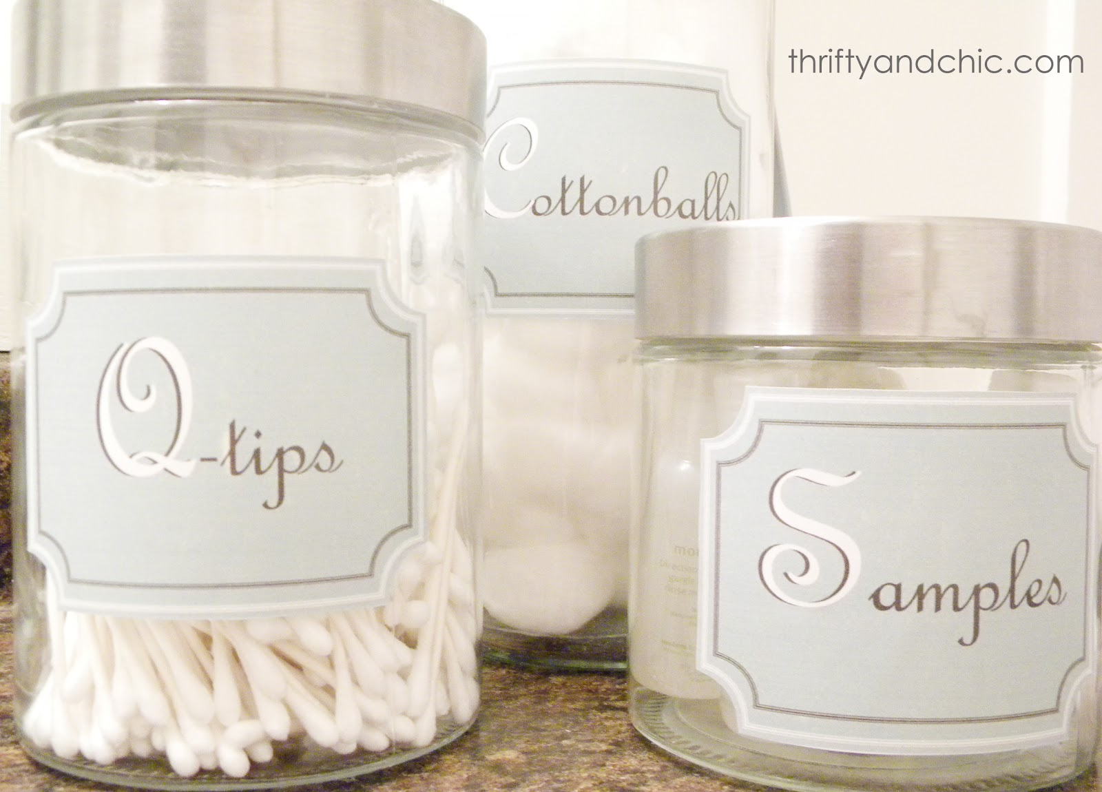 Thrifty and chic diy projects and home decor for Bathroom containers