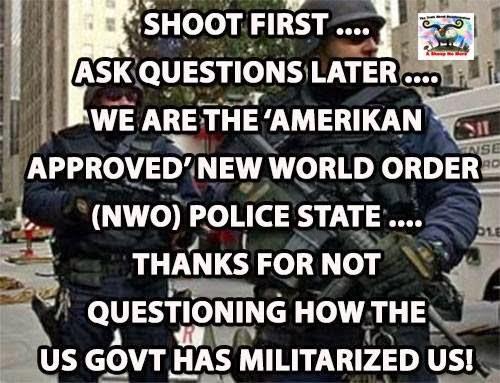 Myndaniðurstaða fyrir new world order police state