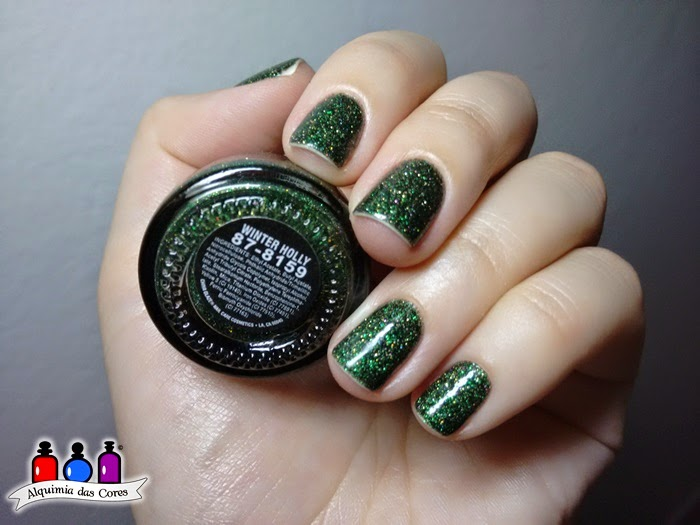 China Glaze, Winter Holly, verde, esmalte importado, nail polish, glitter,