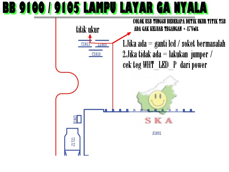 Senyum Kaltim Accessories BB 9100 9105 LAMPU LAYAR