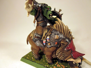 Warhammer Fantasy Orc Warlord mounted on Wild Boar