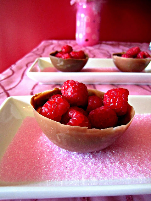 Mother's Day chocolate raspberry cups