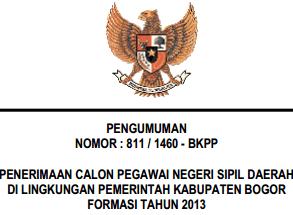 131 formasi cpns kabupaten bogor 2013
