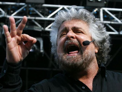 Comedian turned into politician Beppe Grillo