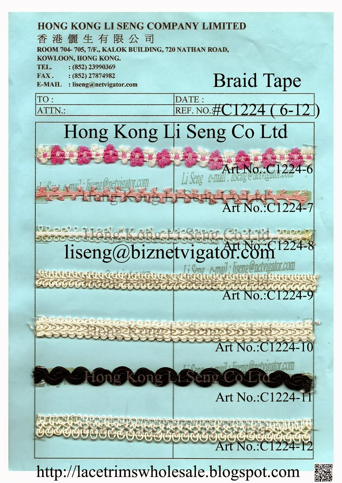 Braid Tape Wholesale and Supplier - Hong Kong Li Seng Co Ltd