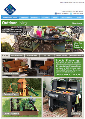 Mar. 29, 2012 Sam's Club email