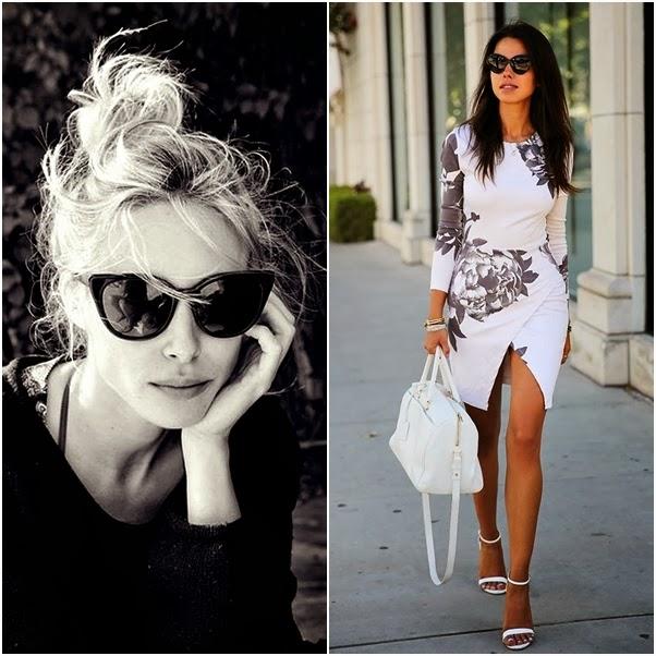 Acessórios Glamourosos Óculos de Sol Preto