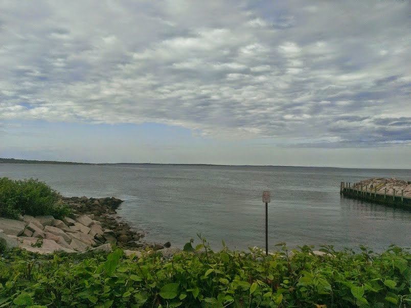 Cloudy skies at Narragansett