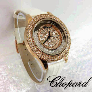 Jam Tangan Chopard Happy Diamonds Leather