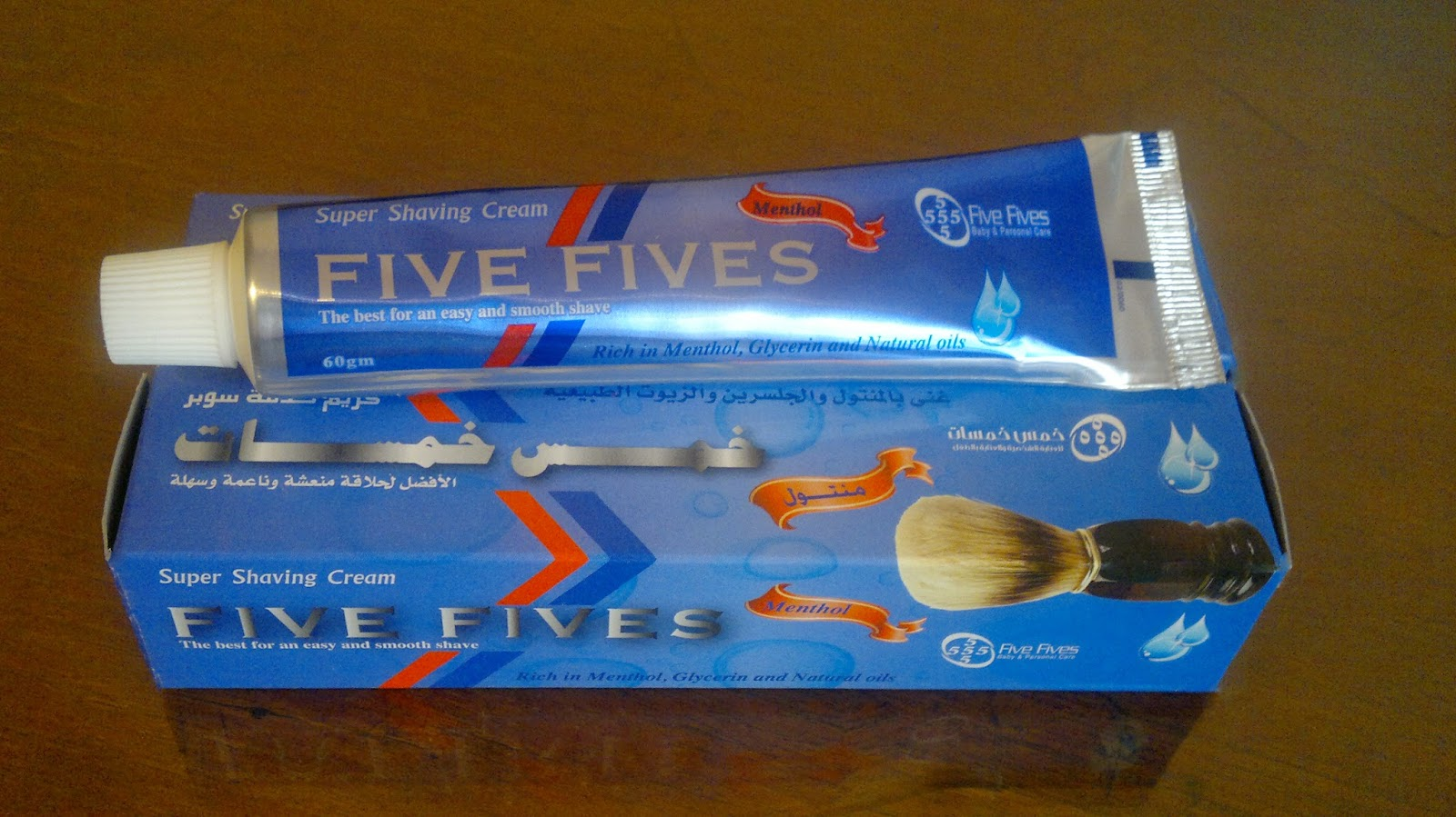 "Crème à raser ""Five fives"" Five+Fives+Shaving+Cream+Extra+Menthol"