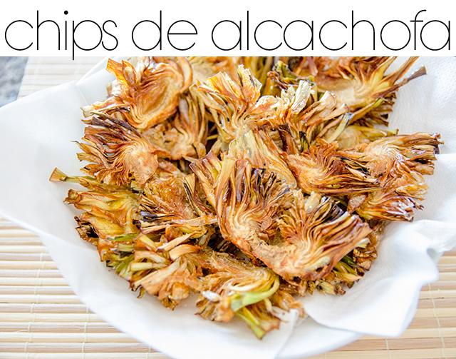 Recetas chips de alcachofa