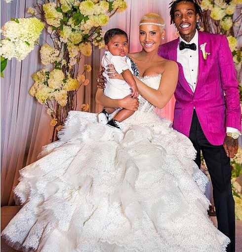 Amber Rose Wants Y'all To See The 'Never Seen Before' Photos Of Her Wedding With Wiz Khalifa! They Were Looking Even Cuter Than We Thought They Were! Amber Was Looking EVEN MORE SeXXXy!