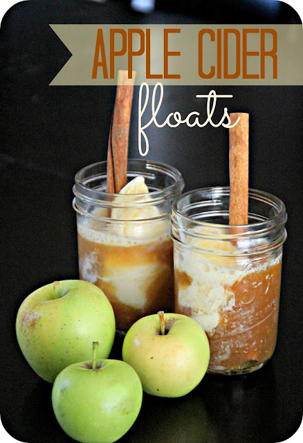 So after dinner we concocted our very own Fresh Apple Cider Floats!