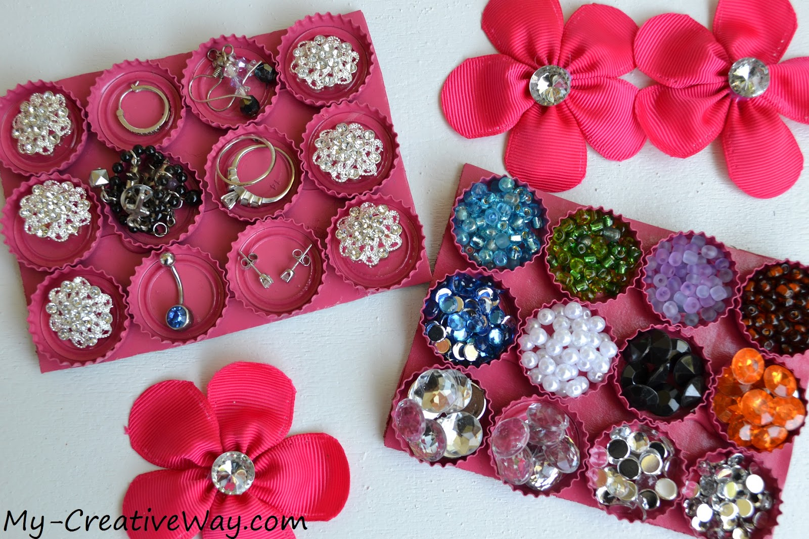 My creative way diy bottle cap organizer for Cap crafter