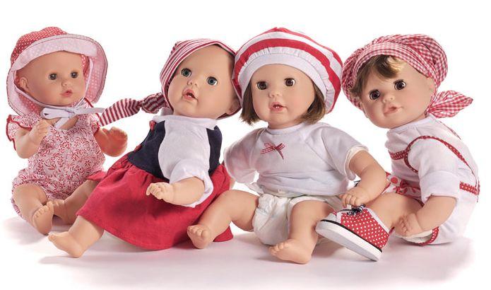 Realistische baby pop citytoy 2004  Gotz kinderland tas