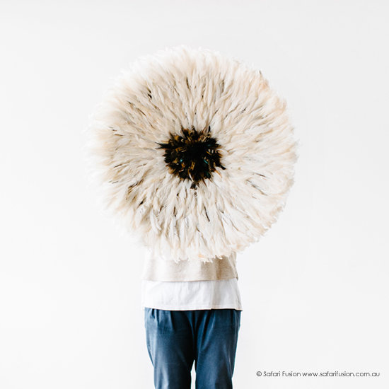 Safari Fusion blog | Petite Bamileke Feather Headdress arrivals | New 50cm Small size colours in store now | Image © Safari Fusion www.safarifusion.com.au