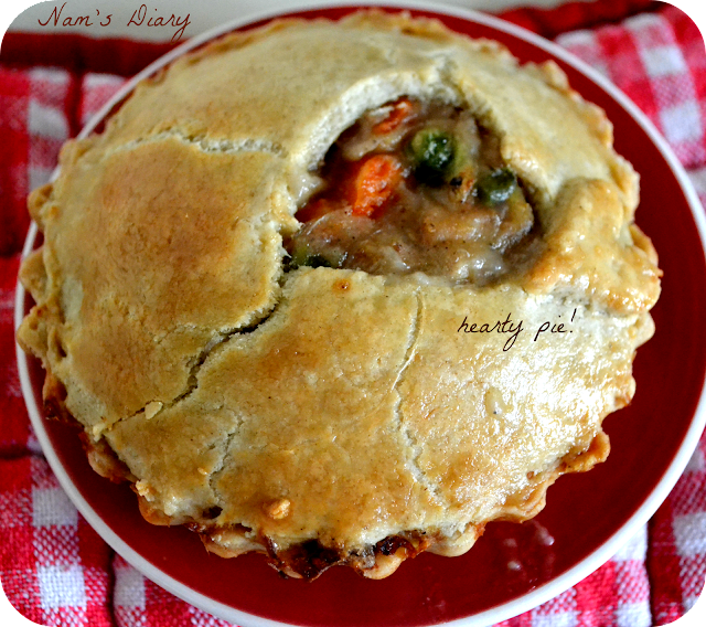 Chicken Pot Pie with hearty top crust ♨