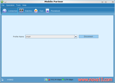 Setting koneksi internet Modem Smartfren Huawei EC1261-2 di Linux