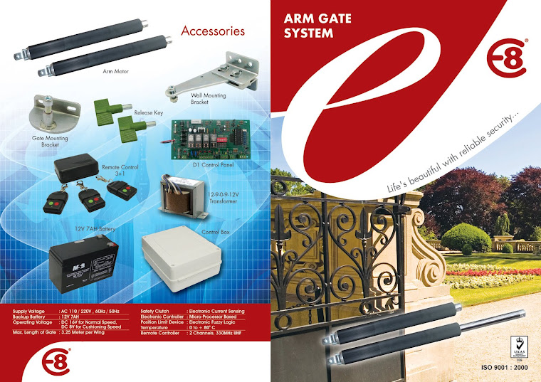 Swing Gate System - Black Alloy