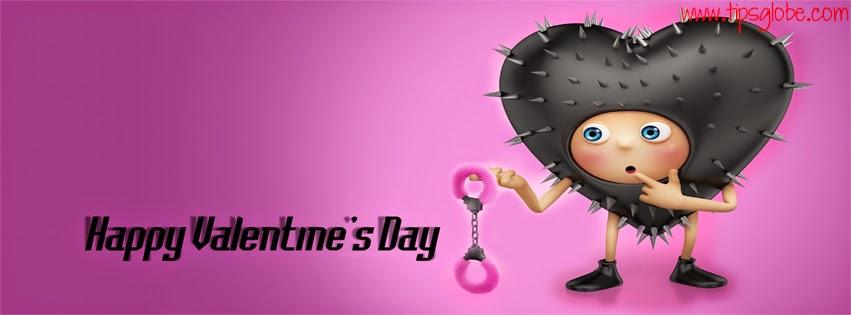 heart shape cartoon valentine facebook cover