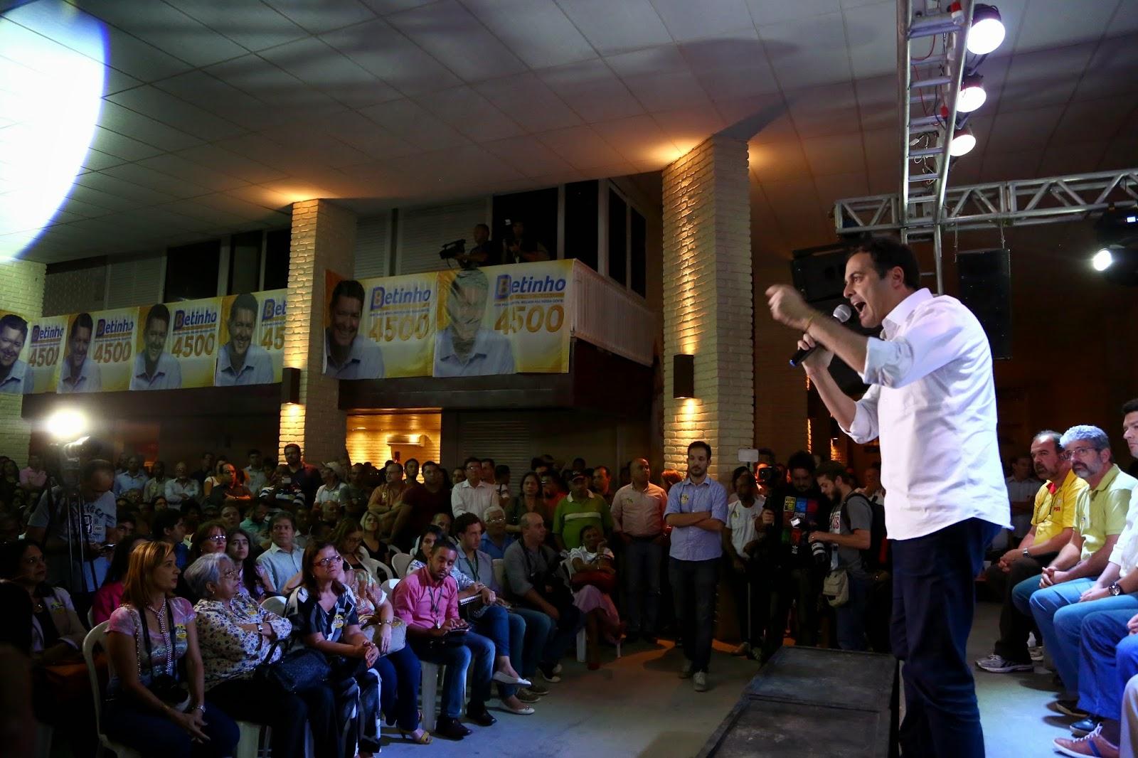 Grande ato em Jaboatão marca apoio de Elias e Betinho Gomes a Paulo Câmara