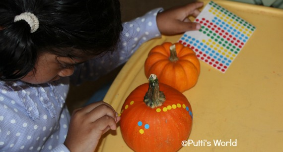 Pumpkin decoration for kids