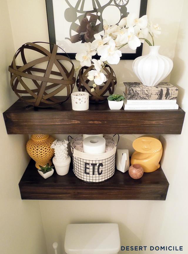 Diy 15 Chunky Wooden Floating Shelves Desert Domicile