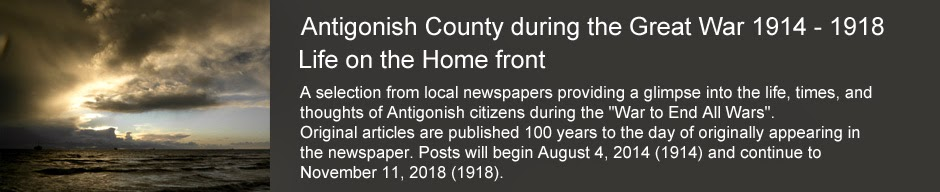 Antigonish County during the Great War 1914 - 1918