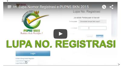 Video Tutorial Lupa Nomor Registrasi e-PUPNS BKN 2015