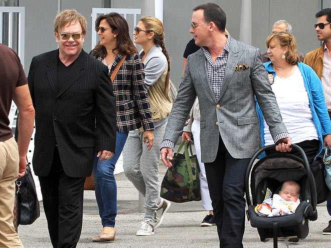 SPOTTED: Elton John And The Family!