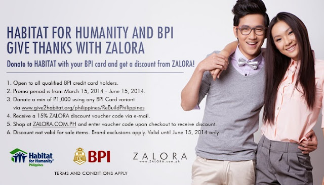 Habitat for Humanity Philippines and BPI gives thanks with Zalora