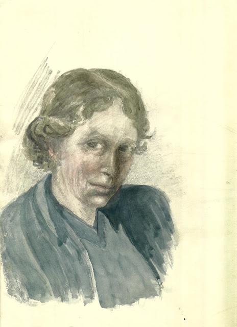 E M L Hendriks, self portrait